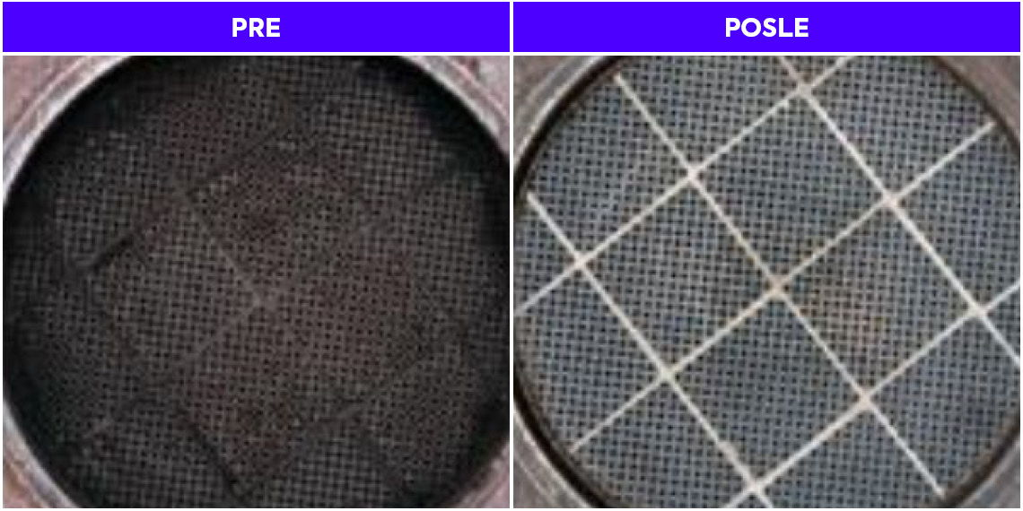 DPF pre i posle Multiserve tretmana DPF-a